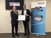 RIMAS gecertificeerd partner van Bosch Rexroth